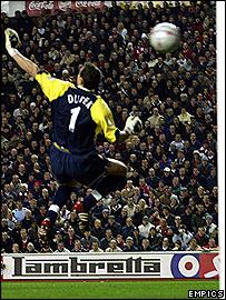 Liverpool goalkeeper Jerzy Dudek