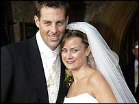 Marcus Trescothick and Hayley Rowse