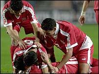 Tunisia's Dos Santos scored the winner in the second half
