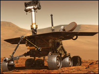 Artist's impression of Nasa Mars rover, Nasa
