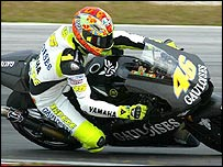 Valentino Rossi is testing in Sepang