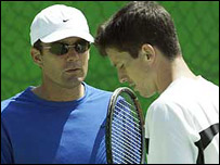 Paul Annacone (left) and Tim Henman