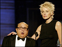 Danny DeVito and Sharon Stone