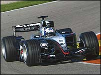 David Coulthard at the wheel of the McLaren-Mercedes MP4-19