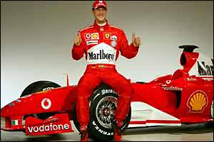 Michael Schumacher has high hopes for the F2004