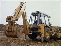 A JCB digger