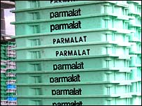 Parmalat crates at the Coopersul milk co-operative