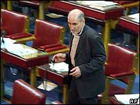 Vice-speaker of the current Iranian parliament Behzad Nabavi, who the Guardian Council has barred from standing again