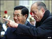 President Chirac welcomes Hu Jintao