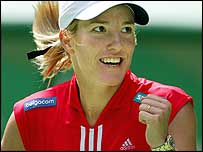 Top seed Justine Henin-Hardenne