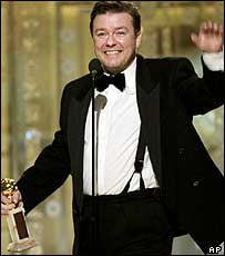 Ricky Gervais gets a Golden Globe