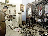 Damage at the Sri Lanka church