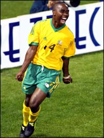 South Africa striker Siyabonga Nomvete