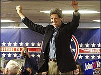 John Kerry, ganador de las primarias demócratas de New Hampshire.