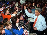 John Kerry with supporters