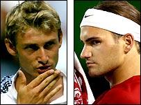 Juan Carlo Ferrero and Roger Federer
