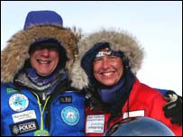 Mike and Fiona Thornewill at the South Pole (photo courtesy of Scot Jackson)