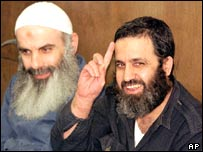 File picture of Obeid and Durani in an Israeli court in 2000