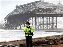 The collapsed pier