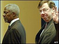 Kofi Annan and Brian Cowan