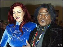 James Brown and wife Tomi Rae Brown