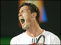 Marat Safin shows his relief