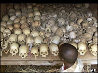 Remains of Rwandan genocide victims