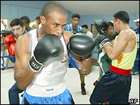 Iraqi boxers in training