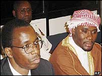 Ferdinand Nahimana (l) Hassan Ngeza (r) media executives who incited violence