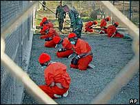 Terror suspects in US custody in Guantanamo Bay
