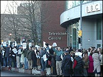 Crowds at TV Centre