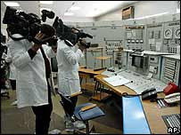 Control room of Libya's Tajura Nuclear Reactor research facility