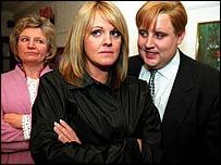 Dolly (Janice Connolly), Shelley (Sally Lindsay) and Eric (Peter Kay)