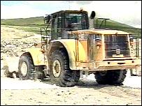Digger at china clay site
