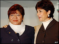 Maria Lopez Urbina (left) with Guadalupe Morfin