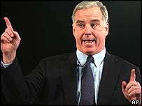 Presidential hopeful Howard Dean