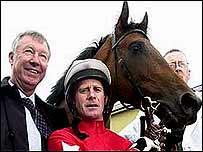Alex Ferguson, el entrenador y la estrella: el caballo.