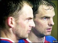 Frank and Ronald de Boer give a post-match interview