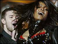 Justin Timberlake (left) and Janet Jackson
