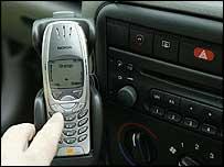 Mobile phone in a car (generic)