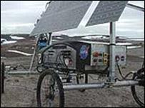 El robot Hyperion durante los ensayos en el ártico canadiense