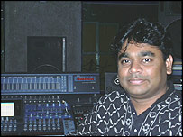 AR Rahman in his studio