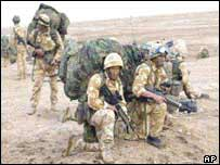 UK troops on the al-Faw peninsula during the Iraq war