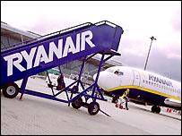 Ryanair aircraft on the tarmac