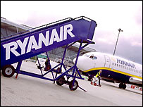 Ryanair aircraft on the tarmac
