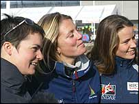 Ellen MacArthur, Sam Davies and Emma Richards