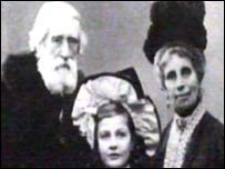 Winifred Williams as a child orphan with elderly relatives