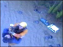 Motorist airlifted by rescue helicopter