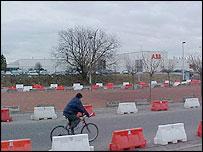 Industrial complex near Charleroi airport