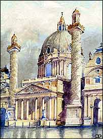 Hitler's painting of Vienna's Karlskirche